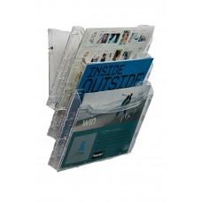 Metro 3 Pocket Brochure Holder Rack 3893 (Landscape) Wall Mount/Free Stand