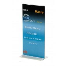 Metro 1/3 A4 T shape Sign Menu Holder 3759 (Portrait)