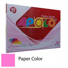 Apolo A4 Premium Color Paper (500 Sheets) (Cyber HP Red)