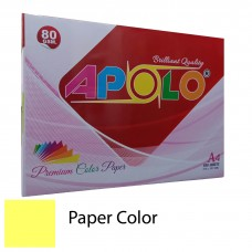 Apolo A4 Premium Color Paper (500 Sheets) (Cyber HP Yellow)