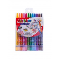 Crown Art Story 12 Colors Twist Up Crayon