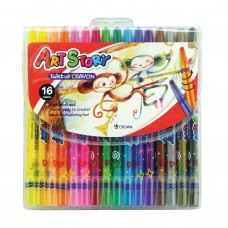 Crown Art Story 16 Colors Twist Up Crayon