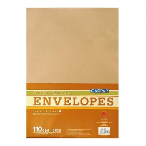 "Campap 12814 Brown Envelope (8"" x 11"") (10pcs)"