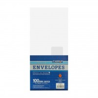 "Campap 12826 White Envelope with Window (4.5"" x 9.75"") (20pcs)"