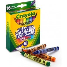 Crayola 16 Colors Ultra-Clean Washable Large Crayons