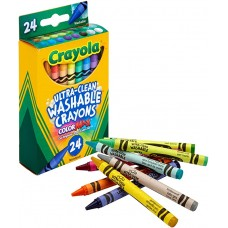 Crayola 24 Colors Ultra-Clean Washable Crayons