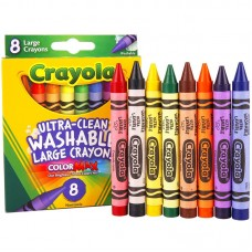 Crayola 8 Colors Ultra-Clean Washable Large Crayons