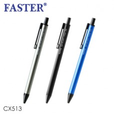 Faster CX513 0.5mm Ball Pen Blue Ink (1pcs)