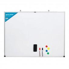 Deli 90cm x 150cm 7846 Whiteboard (Includes 2 W/B Marker + W/B Eraser + 4 Magnets)