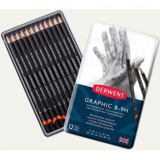 Derwent Graphic B-9H Hard Graphite Pencils