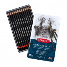 Derwent Graphic 6B-4H Medium Graphite Pencils