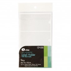 E-file CP-03S Self-Adhesive Label Holder With Blank Inserts (9pcs)