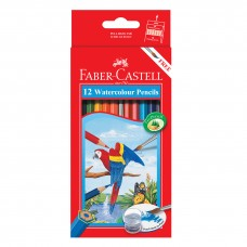 Faber-Castell 12 Colors Watercolor Pencils (With Free Brush)