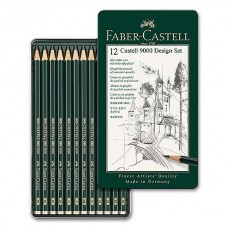 Faber-Castell Set of 12 Castell 9000 Graphite Pencil Design Set