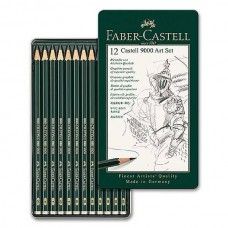 Faber-Castell Set of 12 Castell 9000 Graphite Pencil Art Set