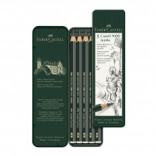 Faber-Castell Set of 5 Castell 9000 Jumbo Graphite Pencils