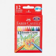 Faber-Castell 12 Color Erasable Crayons