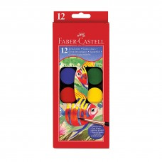 Faber-Castell 12 Watercolor Paint Cakes (with Free Brush)