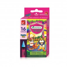 Masterart 16 Colors Regular Size Premium Grade Wax Crayons