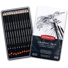 Derwent Graphic 9B-H Soft Graphite Pencils